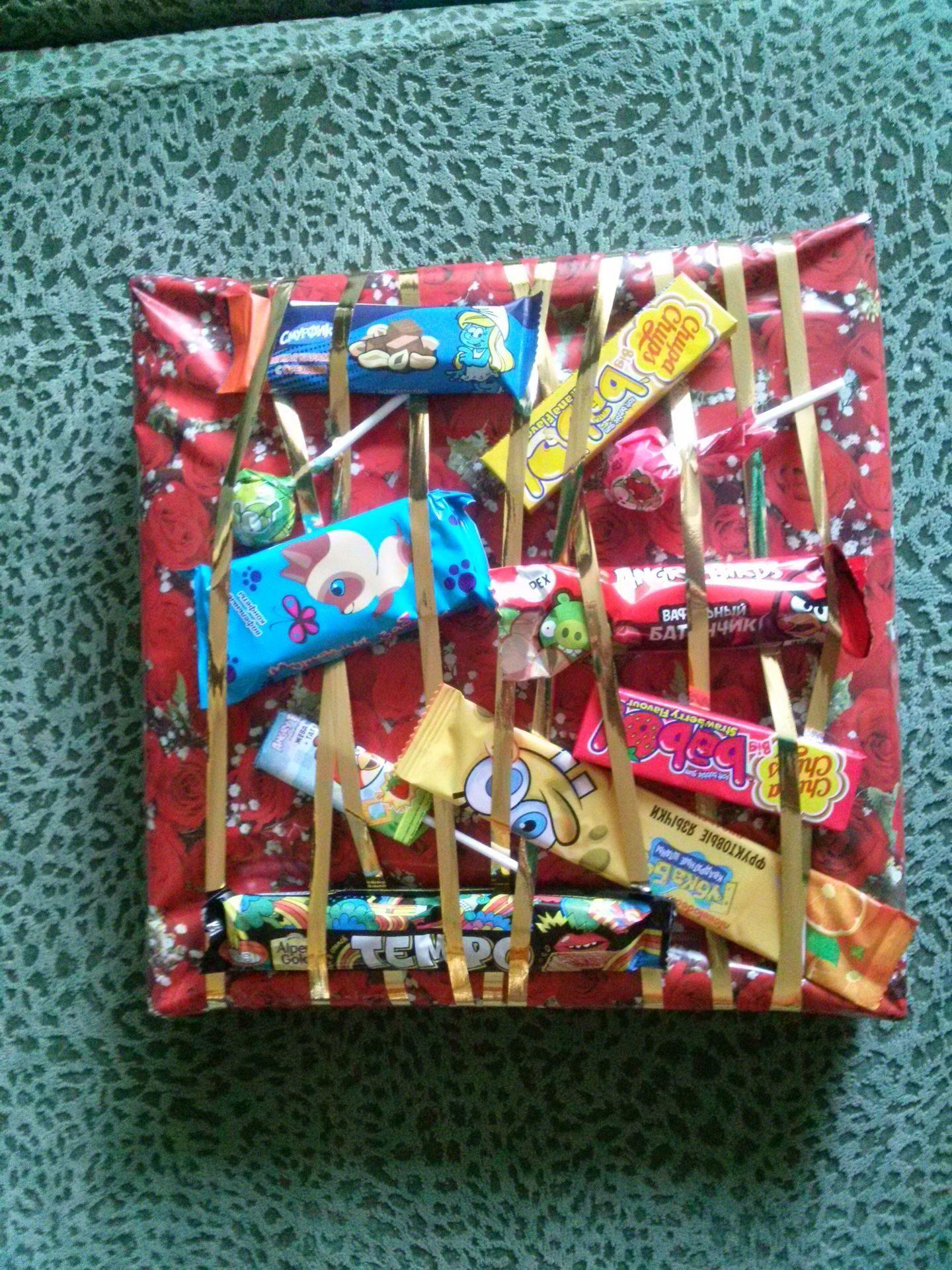 Новогодние подарки своими руками, конфеты, стеклянная банка