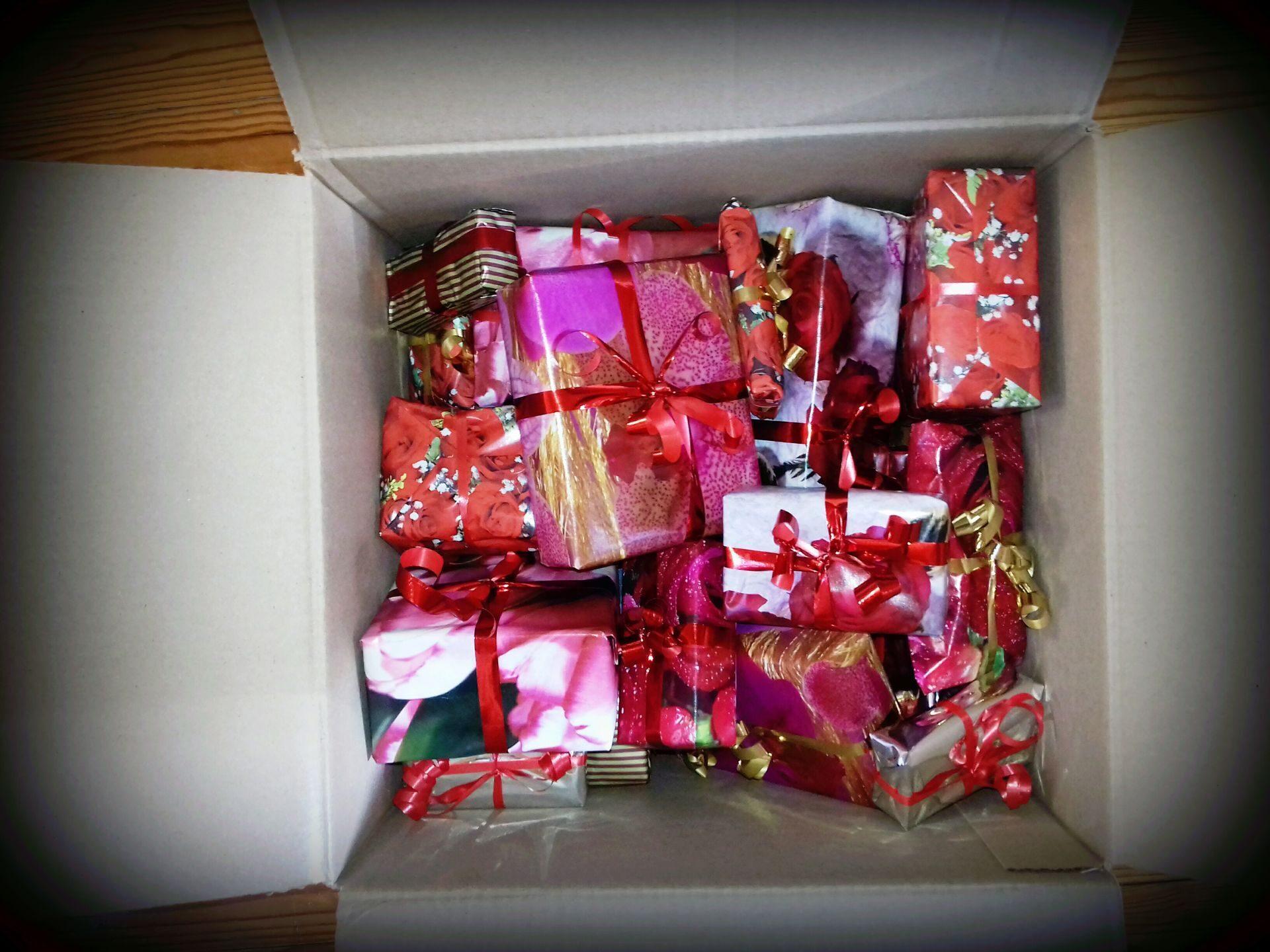 Фото коробок с подарками 25